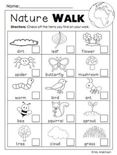 FREE Earth Day Printables - Nature Walk Scavenger Hunt have one partner cross off and other partner take pictures with iPad Earth Day Activities, Nature Activities, Science Activities, Toddler Activities, Earth Day Worksheets, Science Lessons, Spring Activities, Kids Printable Activities, Outdoor Activities For Preschoolers