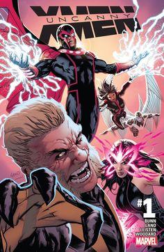 The cover to Uncanny X-Men #1 (2016), art by Greg Land, Jay Leisten, & Nolan Woodard