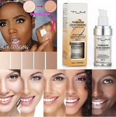 TLM Color Changing Liquid Foundation Makeup Concealer Make Up Skin Tone Too Faced Foundation, Flawless Foundation, Foundation Colors, Perfect Foundation, No Foundation Makeup, Liquid Foundation, Face Foundation, Drugstore Foundation, Foundation