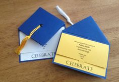 Graduation Party Invitation School Colors by YesYouAreInvited