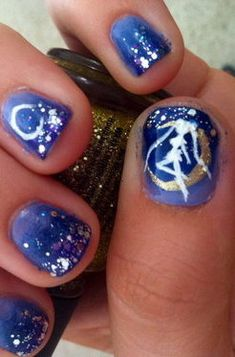 Sailor Moon Nail Art, and theyre actually pretty!