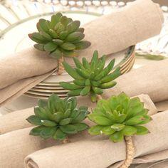 Desert Cactus Napkin Rings - Set of 12