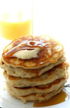 Light and Fluffy Vegan Pancakes.