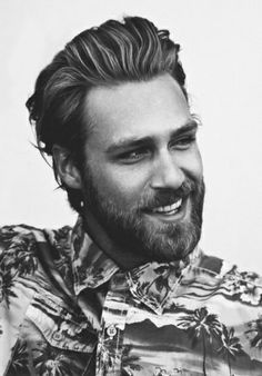 That's a sexy smile but an even sexier beard!