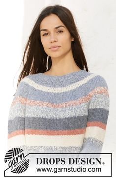 Women - Free knitting patterns and crochet patterns by DROPS Design Drops Design, Summer Knitting, Free Knitting, Baby Knitting, Sweater Knitting Patterns, Crochet Patterns, Garnstudio Drops, Magazine Drops, Crochet Diagram