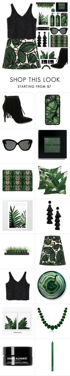 """Shimmy Shimmy: Fringe"" by tinkabella222 ❤ liked on Polyvore featuring Pierre Balmain, Casetify, Linda Farrow, Bobbi Brown Cosmetics, Marc by Marc Jacobs, BaubleBar, Vintage, MANGO, Frontgate and Bling Jewelry"
