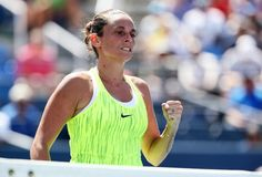 Roberta Vinci of Italy reacts against Carina Witthoeft of Germany during her third round Women's Singles match on Day Five of the 2016 US Open at the USTA Billie Jean King National Tennis Center on September 2, 2016 in the Flushing neighborhood of the Queens borough of New York City. (Source: Al Bello/Getty Images North America)