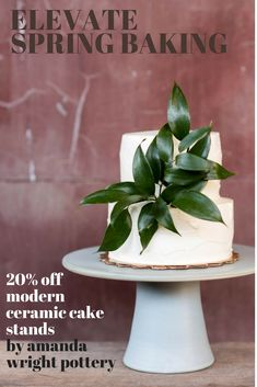 Modern wedding gift inspiration for minimalist couples. Custom Ceramic cake stand by artist Amanda Wright available in six neutral colors and two sizes.  20% off through March >> get the code.