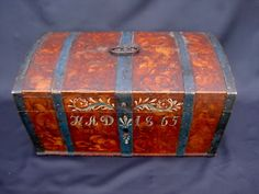 """Swedish wedding chest- As a traditional wedding gift, the """"Bride's Box"""" was often crafted by the groom for his intended."""