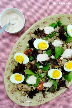 Salada de atum, massa e ovo - http://gostinhos.com/salada-de-atum-massa-e-ovo/