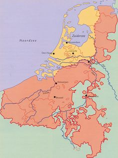 Republiek tijdens Spannse Furie Geschiedenis van Nederland European Map, European History, Kingdom Of The Netherlands, Old Maps, Historical Maps, Low Country, Science Nature, Holland, Dutch