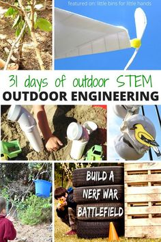 Outdoor engineering activities for kids STEM and the 31 Days of Outdoor STEM series summer learning activities