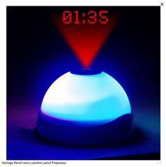 réveil projecteur avec lumière led,projecteur et changement de couleur