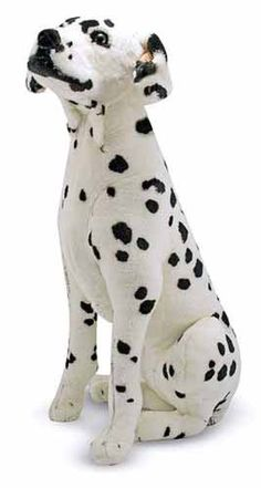 """Once """"spotted,"""" this adorable Dalmatian cannot be forgotten! A perfect companion for any dog lover or as a mascot at the firehouse. With top-quality construction and attention to details, right down to its floppy ears, this polka-dot pooch is oh-so lovable!"""