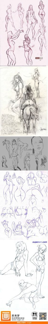 How to draw a woman riding a horse - drawing reference - human anatomy