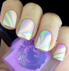 12 Marble Nail Art Designs Worth Copying! Click on the link to see the art lots of the color combinations are really great