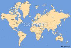Poszter World Map