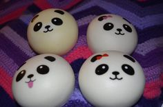 Kawaii Squishy Jumbo Scented Panda Buns - Yummy KeyChain Cellphone Charms