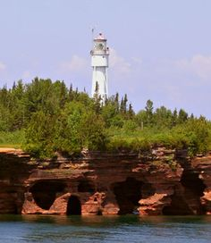 Devil's Island Light Station, Apostle Islands National Lakeshore, Northern Wisconsin.