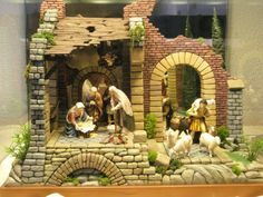 Nativity House, Nativity Stable, Christmas Nativity Scene, Nativity Crafts, Christmas Crib Ideas, Christmas Crafts, Merry Christmas, Christmas Decorations, Medieval Houses