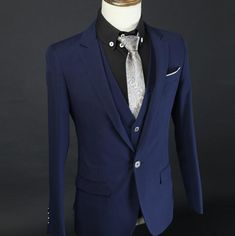Hot sale Custom made Navy Blue groom suits sapphire man suits Newest man's Business suits ( jacket+Pant+vest+tie)-in Suits from Men's Clothing & Accessories on Aliexpress.com | Alibaba Group