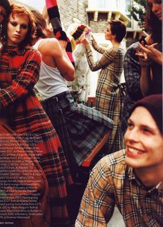 Group shot by Mario Testino for Vogue UK, 1999.