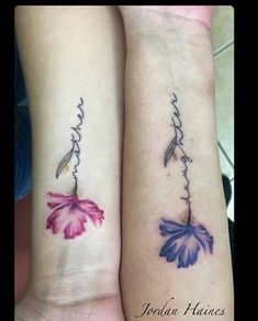 Mother/daughter tattoos by Jordan Haines at Ikonic Ink