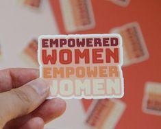 Laptop Stickers, Women Empowerment, Adirondack Chairs, Etsy, Girls, Toddler Girls, Daughters, Maids
