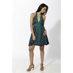 Vestido corto estampado con escote y abertura frontal de doble capa Azul - Mauna Barcelona - fashion - moda Boho Chic, Fashion Moda, Barcelona, Spirit, Formal Dresses, Collection, Mantle, Vestidos, Minimal Dress