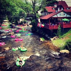 Summertime is tubing time in Helen, Georgia!