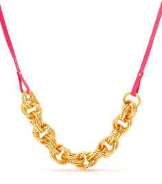 Neon Pink Harbor Chain Necklace - Jewelry | gorjana-griffin.com