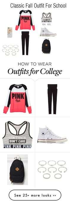 """""""fall outfit for school"""" by carolinepowersss on Polyvore featuring Victoria's Secret, Converse, Casetify and Forever 21"""