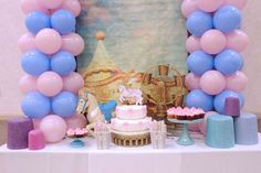Fantastic carousel baby shower party! See more party ideas at CatchMyParty.com!