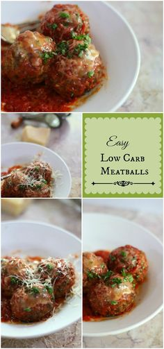 Easy low carb meatballs with just 0.5 net carbs each. Make a big batch and freeze to use as needed! Lowcarb-ology.com