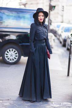 paris fall fashion 2014 | ... hat maison michel paris paris fashion week fall 2014 street style pfw