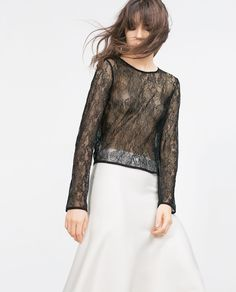 Image 4 of CROPPED BLOUSE from Zara