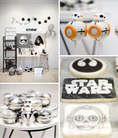 Everything everything to make a great Star Wars party! - Everything everything to make a great Star Wars party! Theme Star Wars, Star Wars Cake, Star Wars Party, Aniversario Star Wars, Star Wars Birthday, Diy Birthday, Birthday Cakes, Birthday Ideas, Birthday Parties