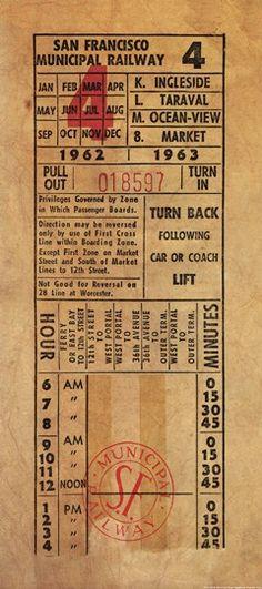 Vintage Railway Ticket