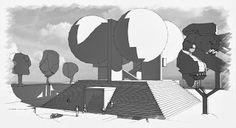 retro futurismus: US-Pavilion Entwurf in den 60er Jahren