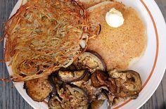 The Frank Lloyd Bite from Bragg's Factory Diner #phoenix #vegan #veganbrunch #veganphoenix #Arizona #pancakes