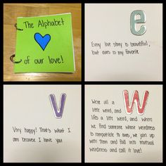 The Alphabet of our love book! Quote and memories!
