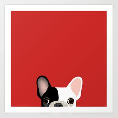 d8f32088eeb French Bulldog Art Print by Anne Was Here