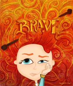Princess Merida  I know the name of the movie is Brave, and she doesn't look very brave here, but there's this other part of Merida that caught my eye, and that part is that she doesn't want to be an ordinary princess and she's tired of being treated like one, specially by her own family.