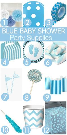 Blue Boy Baby Shower Party Supplies | CatchMyParty.com
