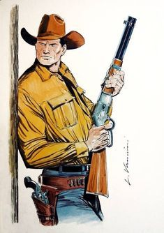 Western Comics, Western Art, Western Cowboy, Ram And Rem, Indian Illustration, Cowboys And Indians, Texas Cowboys, Boat Art, War Comics