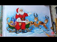 Papai Noel com Renas em Tecido (Aula 100/ Parte 2) - YouTube