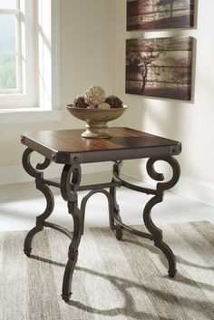 Hadelyn - Brown - Square End Table