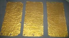 Dating back to 500 B.C., the Pyrgi gold tablets were discovered in 1964 in an excavation of a sanctuary in ancient Pyrgi, the port of the southern Etruscan town of Caere in Italy. The three gold plates contain holes around their edges, which indicate that they were likely bound together in some form at one point. What makes the tablets so special is that they are bilingual. Two of the tablets are inscribed in the Etruscan language, the third in Phoenician and are today regarded as the oldest…