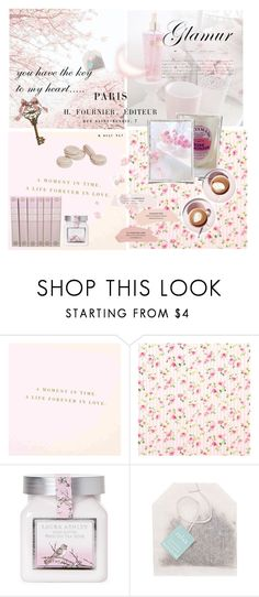 """dear paris~ you have the key to my heart... ♡"" by emslielovesbunnies ❤ liked on Polyvore featuring Le Chateau, Laura Ashley and Paper Source"