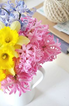 daffodils and hyacinth ~ love the scent of the hyacinth and must remember to get them come spring